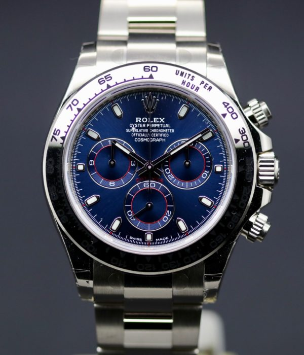 "ROLEX DAYTONA REF.116509 ""BLUE"" 18 KT. WHITE GOLD"